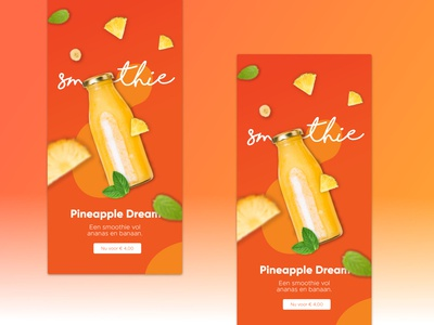 Smoothie advert design