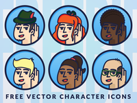 Freebie! Vector Characters Icons EPS