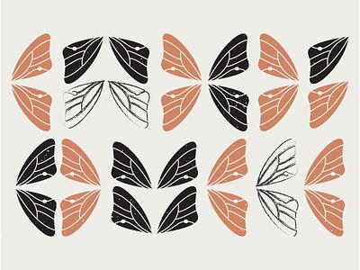 Butterfly Wing Pattern design illustration vector pattern butterfly wing butterfly orange simple