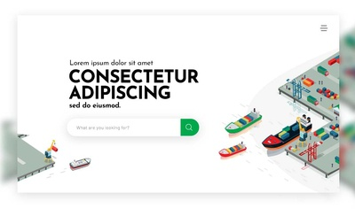 Landing Screen concept for Marine Cargo Insurance