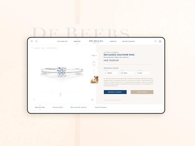 Jewellery store - engagement ring configurator shop assisting app shop app mobile ux mobile app progressive web app website design web design web app pwa luxury brand luxury design diamonds diamond ring jewellery jewelry online store store