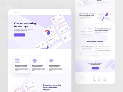Content Marketing - Landing Page Design