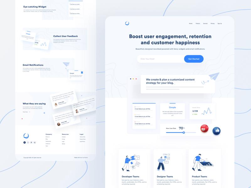 Landing Page Design Concept