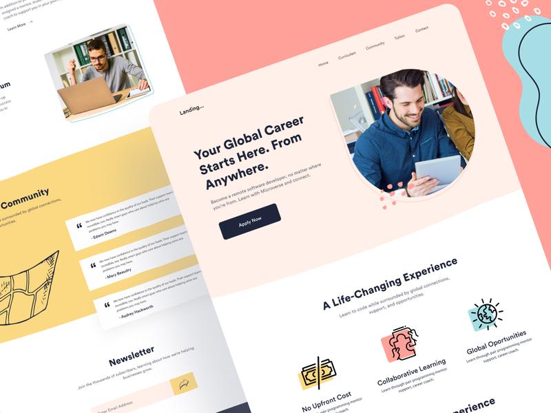 Learning Platform Landing Page Design