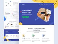 Finance Tasks Landing Page