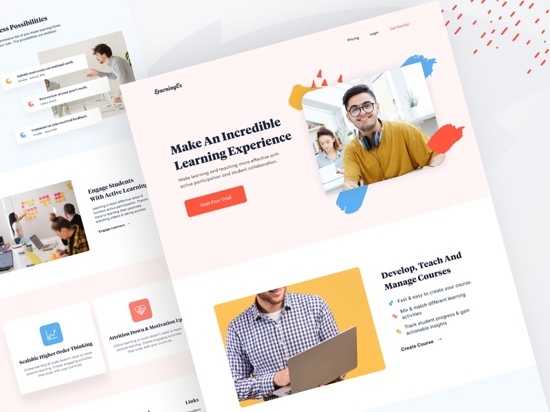 Learning Experience - Landing Page