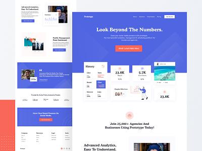 Landing Page Design Exploration sass sasslanding marketing site madeinwebflow landing page concept landingpage webflow header portfolio business saas designer agency ui ux landing website web web design design