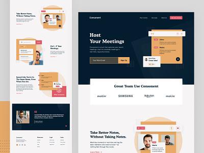 Team Meeting Landing Page developer marketing site marketingpage webflowecommerce madeinwebflow webflow team business management app management meeting landingpage designer ui ux landing website web web design design