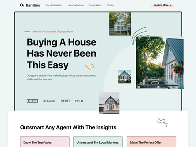 Real Estate Landing Page web design landing designer frontend developer section header saas real estate landingpage ui ux webflow website web design
