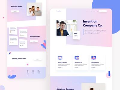 Company Website Landing Page