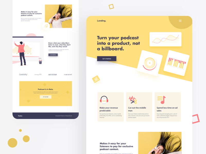 Podcast - Landing Page Concept