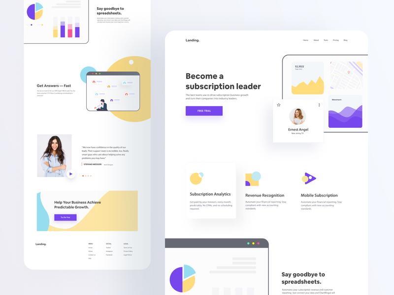 Landing Page Design - Website Redesign