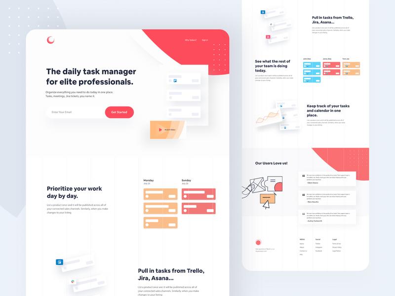 Saas Landing Page Design