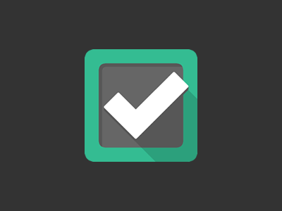 Dunzo app icon checkmark check dunzo app to-do task list icon iphone ipad flat