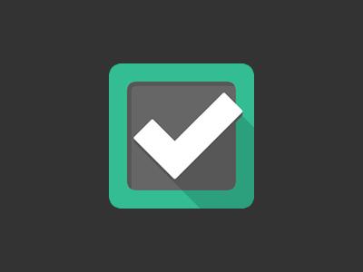 Dunzo app icon checkmark check dunzo app to-do task list icon iphone ipad flat