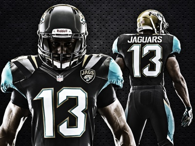 New Jaguars uniforms nfl jacksonville jaguars uniform football nike photo player athlete