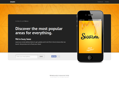 Ripped off by Foursquare swarm app foursquare ui landing page website layout sign up