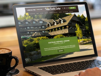 Hotel & Resort Website landing site vermont homepage layout ui website resort hotel