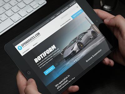 Springrates.com Website Redesign bootstrap responsive layout ecommerce store shop design homepage website ui car