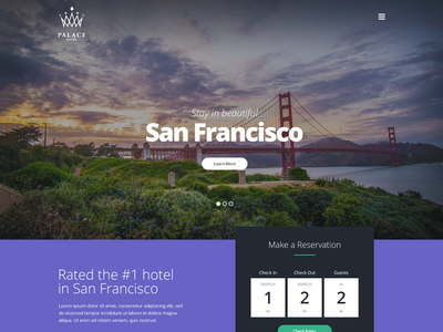 Hotel Exploration landing homepage layout flat reservation reserve ui travel booking hotel