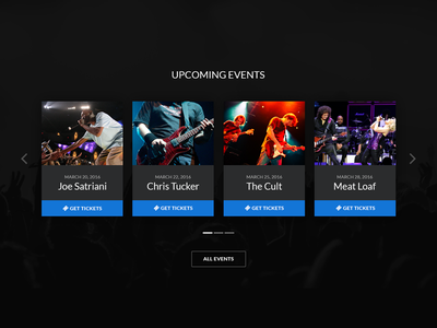 Events Carousel website layout button tickets ui slider carousel events
