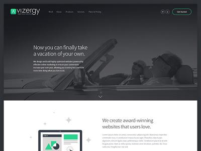 Website Homepage flat navigation clean agency landing site layout homepage ui website