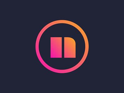 Nocturnal TV logo edm stream app circle n brand video logo