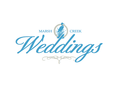 Marsh Creek Weddings wedding logo marriage bird script
