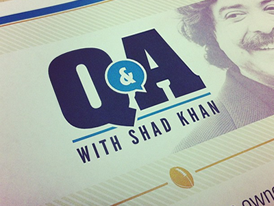 Q&A flyer and logo bubble talk quote chat ampersand qa flyer logo football jaguars nfl