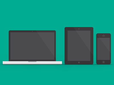 Apple Devices icon psd clean simple freebie download mobile device mac apple macbook ipad iphone tablet