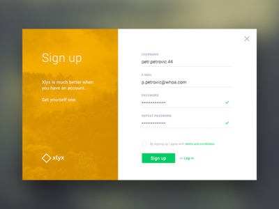 Sign up form 001 dailyui login register signup