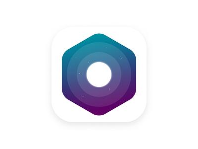 Day 005 / App Icon planet gradient ios moon space app icon dailyui ui