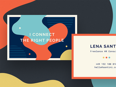 HR Consultant Business Card ftwk colorful branding personal resources human hr card business
