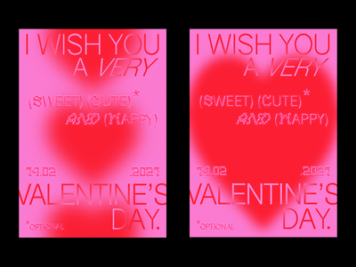 2021 VALENTINE'S DAY valentinesday heart illustrator photoshop gradient editorial design editorial print posterdesign poster graphicdesign dribble recent