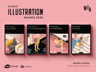 Annie Ernaux Book Covers isometric cover feminism illustration photoshop 2d digital painting award winning books editorial editorial illustration book cover wia wia2020