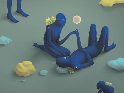 Hijos de la oscuridad digital painting 2d illustration photoshop editorial illustration aliens alien isometric illustration magazine cover magazine isometric mockup