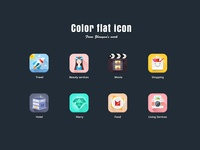 Color flat icon
