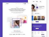 CE Scout About Page ux ui progress tracking certification search web design bird colors purple product design courses professional exam stats partners tesimonial team ui ux design plogged about page