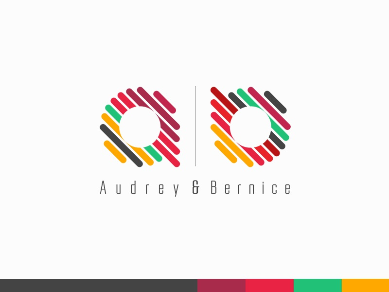 Audrey & Bernice Corporate Identity stationery shoes plogged logo fashion corporate clothes card business branding beautiful bags