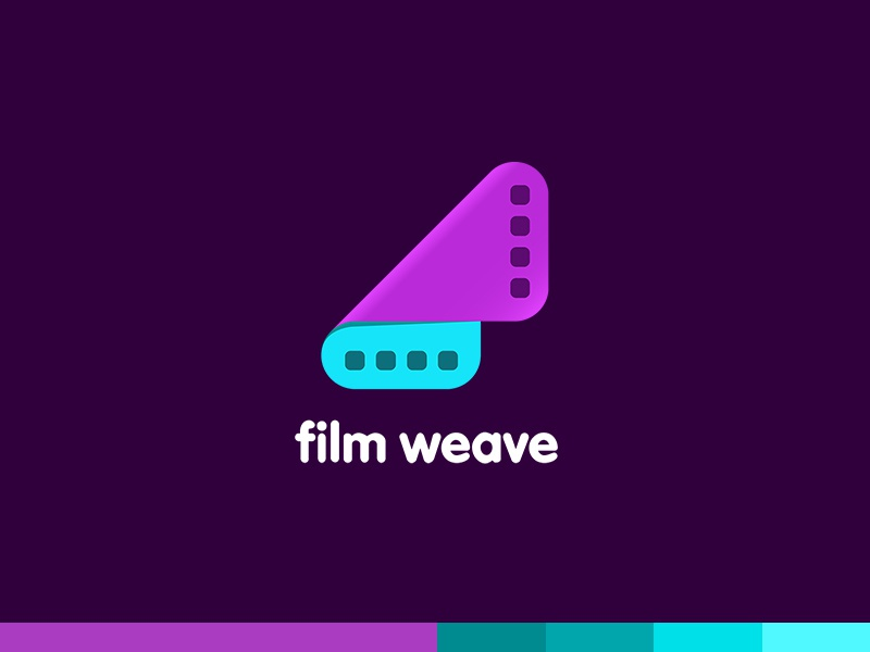 Film Weave weave video touch software plogged magenta logo film creative clever app