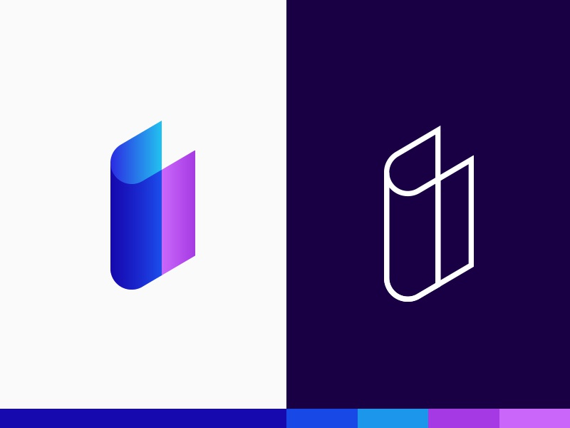 Immersive - Logo Option 1 portal visual plogged immersive playful people line logo brilliant mark icon brand colourful beautiful bright gradient story edutechnology virtual reality learn creative smart clever school class children branding technology book typography i vr