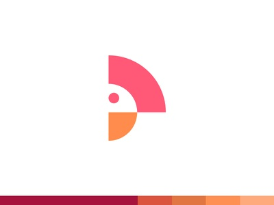 P for Parrot minimal animal parrot geometric social monogram branding identity mark logo bright abstract fun gradient colorful beautiful clever smart creative plogged blue monogram app typography lettering logotype icon symbol brand