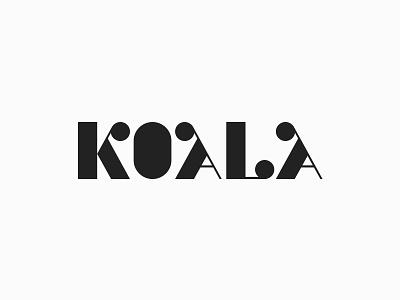 Koala Logotype lettering font fashion identity type logotype animal koala minimal plogged branding agency clever smart creative mark icon symbol logo design typography