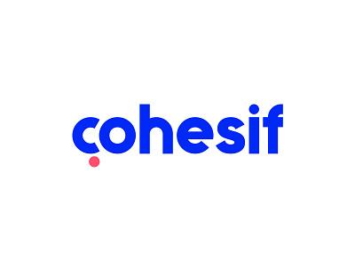 Cohesif Logotype consultancy firm question mark c symbol lettering typography geometric social monogram branding identity mark logo clever smart creative plogged logotype