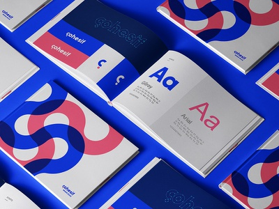 Cohesif Brand Guide typography c color blue wildwatermelon consultancy firm style guide brand book logotype plogged clever smart creative logo branding identity mark geometric social monogram symbol lettering typography question mark c
