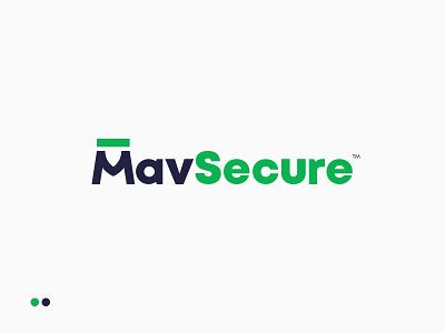 Logo for MavSecure Group m logo encrypt protect symbol lettering typography geometric social monogram branding identity mark logo clever smart creative plogged logotype cyber security m dash shield wordmark green blue