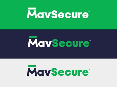 MavSecure Group Logo Variations m dash shield security cyber security branding identity mark green blue logotype clever logo geometric monogram symbol lettering typography protect encrypt m logo
