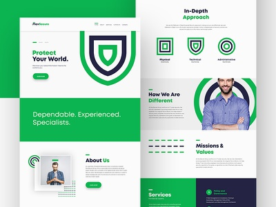 MavSecure Group Landing Page dash line defense data information security mavsecure group colorful beautiful bright services contact cyber security green landing page ux design ui branding corporate logo plogged minimal website