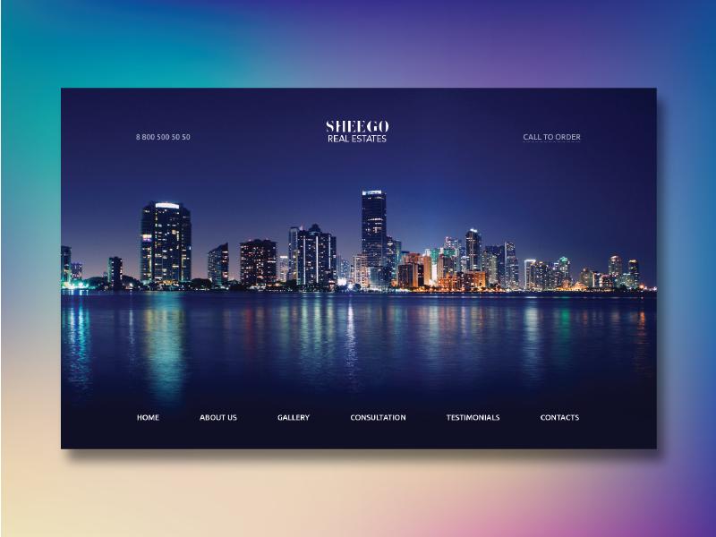 Sheego Real Estates - Landing Page
