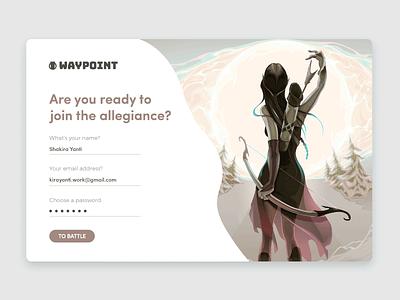 Waypoint - Sign Up UI game ui gaming free ui kit log in sign up uix ui
